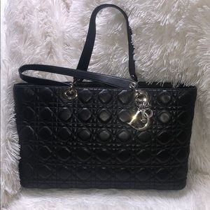 Vintage Quilted Lady Dior Cannage Tote